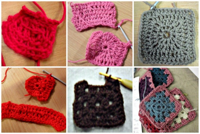 Granny squares Collage
