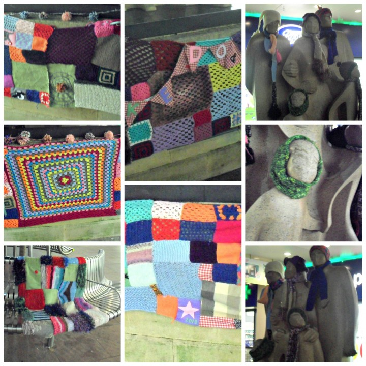 Yarn bomb main Collage