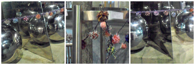 Yarn bomb pompom Collage