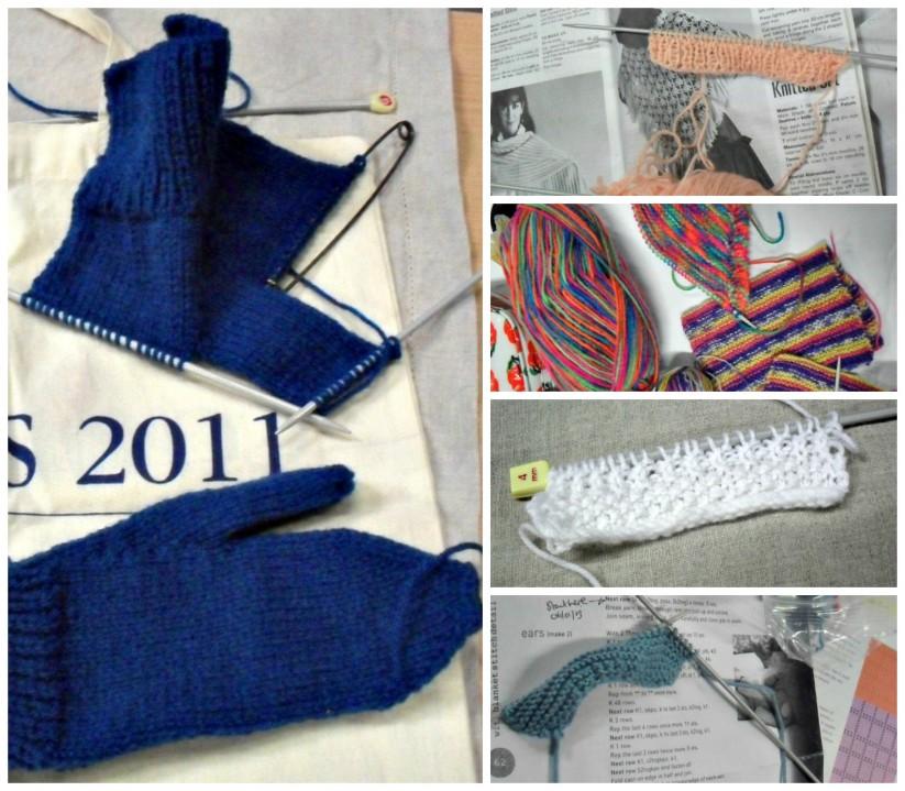 Make, Do July knitting Collage